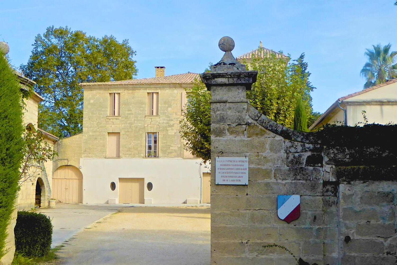 Entrance to Chateau des Fouzes