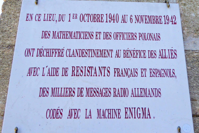 Sign outside Chateau des Fouzes Uzes